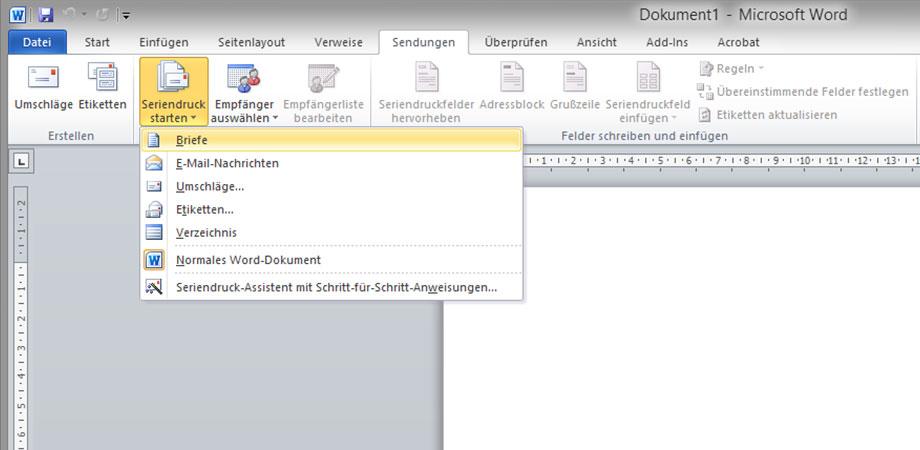 Briefe Und Sendungen Word 2010 : Formletter pdf word serienbriefe in einzelne dateien