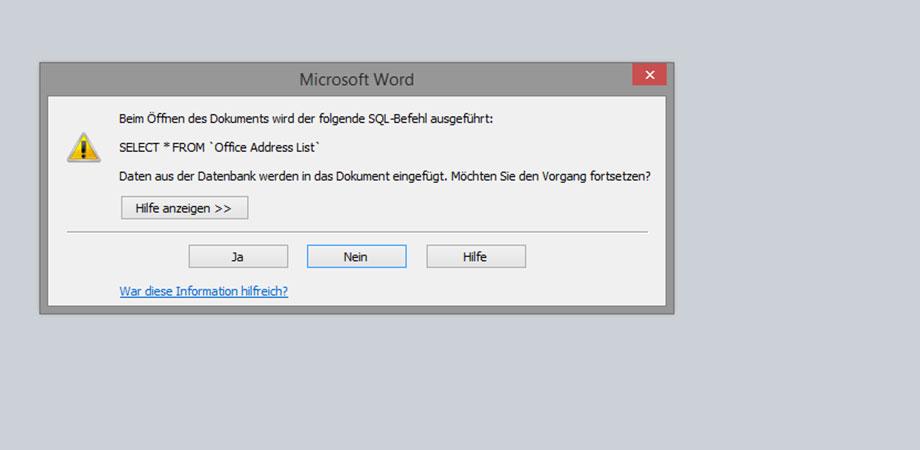 formletter2pdf - Word-Serienbriefe in einzelne Dateien speichern